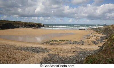 Beach Treyarnon Bay Cornwall uk - Treyarnon Bay Cornwall...