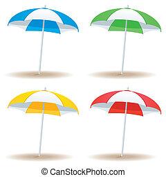 Beach umbrella basic - A selection of beach umbrellas in...