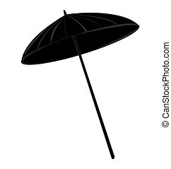 beach umbrella in black silhouette