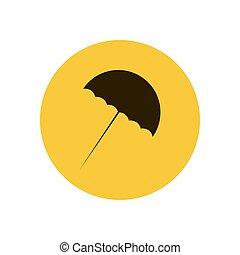 Beach umbrella silhouette