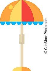 Beach umbrella vector illustration.