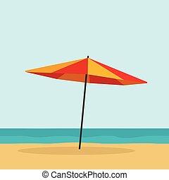 Beach umbrella vector illustration isolated