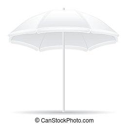 beach umbrella vector illustration isolated on white background