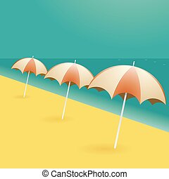 Beach umbrellas cartoon