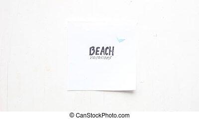 Beach vacation idea, art style