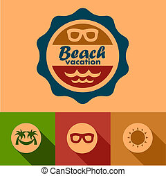 beach vacation labels
