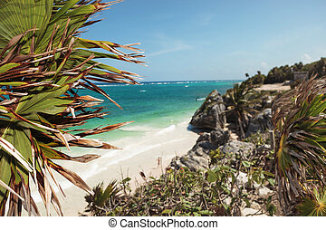 Beach view from Tulum.