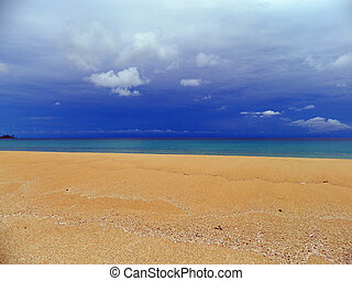 Beach View - This is a photo of an uninhabited beach on the...