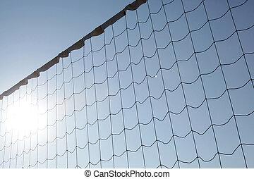 Beach volleyball net, summer vacation, sport concept.