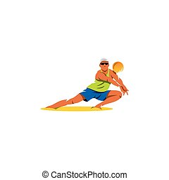 Player takes the ball. on a white background