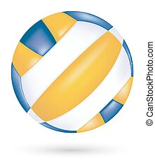 beach volleyball vector on a white background
