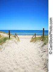 Beach walk - A walk down to the beach in Adelaide, Australia