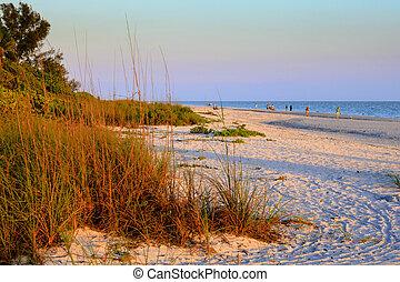 Beach Walkers at Sunrise