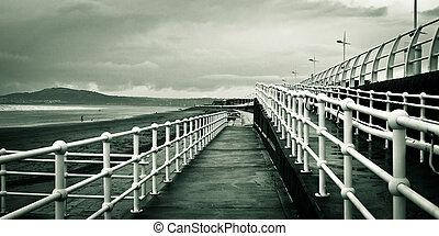 Beach walkway - A ramp walkway at Aberafan beach, South ...