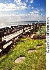beach walkway - beach pedestrian walkway in north coast of ...