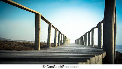 Beach walkway to infinity
