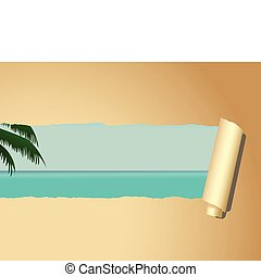 Beach Wallpaper Illustration