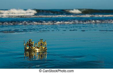 Beach Waters Crown - Golden kings crown that has been wash...