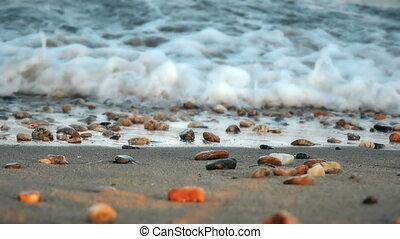 beach wave rock slow motion