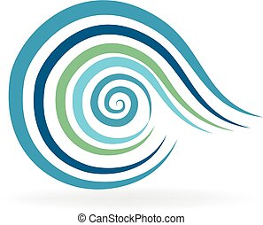 Beach waves logo