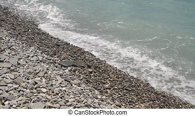 beach waves most beautiful pebble Mediterranean Sea