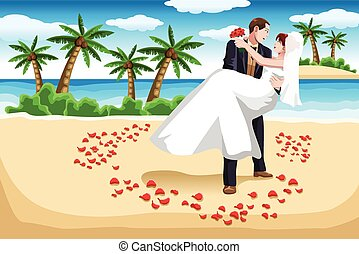 beach wedding illustrations and clipart 1 815 beach wedding royalty rh canstockphoto com beach theme wedding clipart Pink Beach Wedding