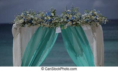 Beach Wedding Ceremony - Wedding ceremony on a tropical...