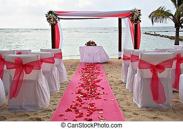 Beach wedding - Tropical beach wedding.