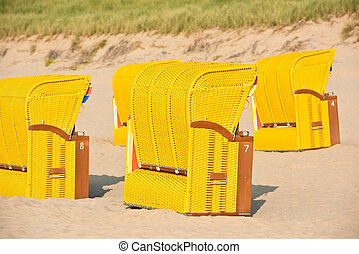 Strandkorb clipart  Strandkorb, beach chairs on beach at binz seaside resort on ...