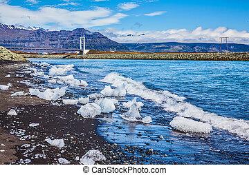 Ocean Coast Ice Lagoon - Jokulsarlon