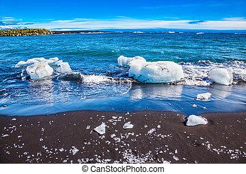 Icy Atlantic coast