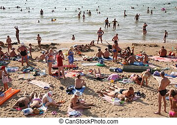 Beach with people