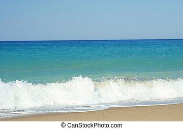 beach with sea - blue sky