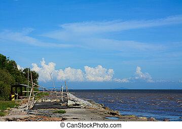 beach with sea in Bangpu , Thailand