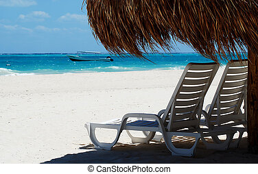 beach with two seating