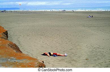 Beach woman.
