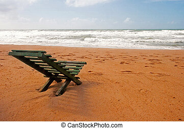 Wood Chair in the beach