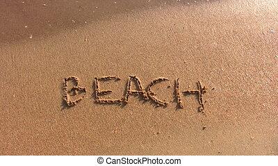 beach word on beach