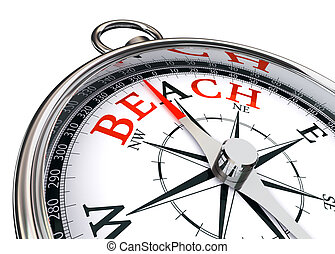 beach word on conceptual compass
