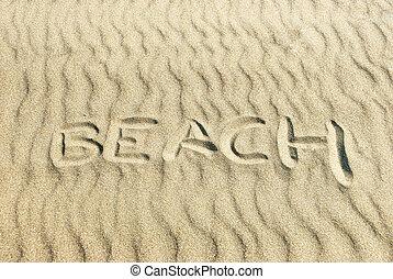 Beach Written in Sand
