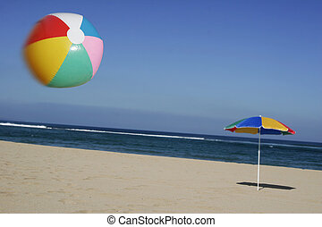 Beachball in the Air