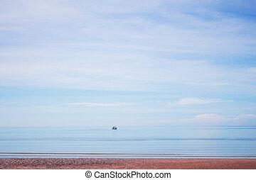 Beaches on blue sea.