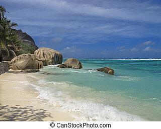 beachfront of tropical island