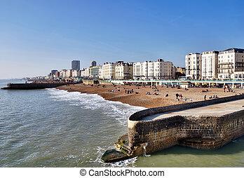beachfront, passeio, brighton