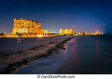 beachfront, praia, pesca, vista, cais, hotéis
