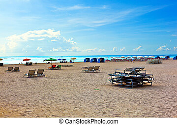 beachlife at the white beach in South Miami
