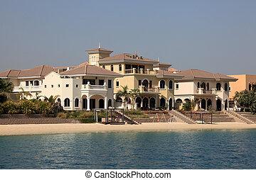 Beachside Villas at The Palm Jumeirah in Dubai, United Arab...