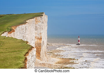 Beachy Head. East Sussex, England, UK - Chalk cliff at ...