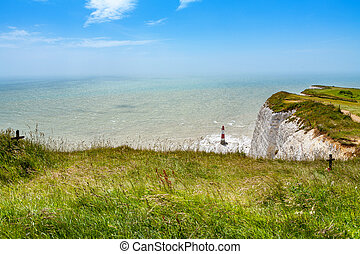 Beachy Head. East Sussex, England, UK - View from chalk...