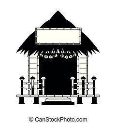 Beack kiosk stand in black and white - Beack kiosk stand...